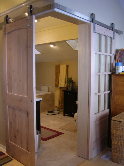 Guest post installing barn sliding doors for Corner sliding glass doors